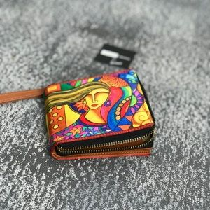 Handbags - Silk Painted Lady Coin Purse/Wallet